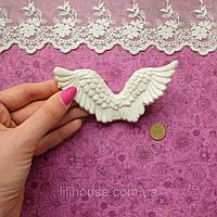 Крылья 11*5*1.5 см СЕРО-БЕЛЫЕ