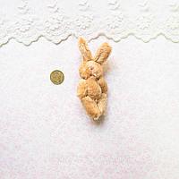 Мягкая Игрушка Кролик 7.5 см с ушками КОРИЧНЕВЫЙ