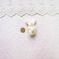 Мягкая Игрушка Кролик 5.5 см с ушками МОЛОЧНЫЙ