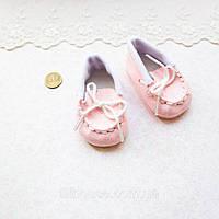 Взуття для ляльок Мокасини Замша 7*3 см РОЖЕВІ