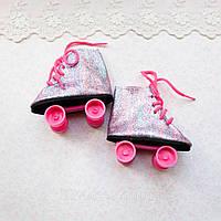 Обувь для кукол Ролики с Шиммером 7*3 см ФИОЛЕТОВЫЕ