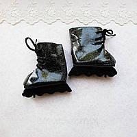 Обувь для кукол Ролики с Шиммером 7*3 см ЧЕРНЫЕ