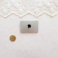 1:12 Миниатюра Apple Ноутбук 4.5*3 см СЕРЕБРО