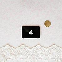 1:12 Миниатюра Apple Ноутбук 4.5*3 см ЧЕРНЫЙ