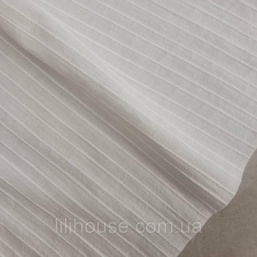 """Шиття на батисті, тоненький фактурний бавовна для лялькового одягу """"Широка хвиля, білий"""", 25*34 см"""