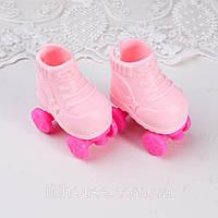 Обувь для кукол Ролики Пластик 5*3 см РОЗОВЫЕ