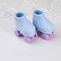 Обувь для кукол Ролики Пластик 5*3 см ГОЛУБЫЕ с СИРЕНЬЮ