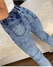 Джинсовые штаны джоггеры размер 46,48,50,52 арт -280(мел-ди 280)