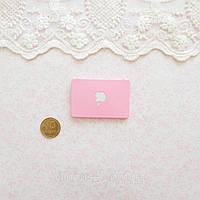 1:12 Миниатюра Apple Ноутбук 4.5*3 см РОЗОВЫЙ