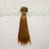 Волосы для Кукол Трессы Прямые ТЕПЛЫЙ РУСЫЙ 50 см