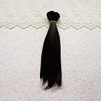 Волосы для Кукол Трессы Прямые ЧЕРНЫЕ 50 см