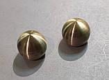 Карниз для штор Імпрессіон КУЛЯ БОЛОНЬ подвійний 19+19 мм 1.6 м Античне золото, фото 2