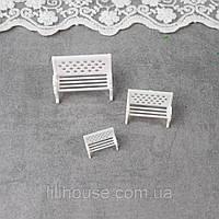 Скамейка Миниатюра для Диорамы 2.5 см