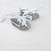 Взуття для ляльок Кросівки 5.5*2.5 см ХАКІ з білою вставкою, фото 1