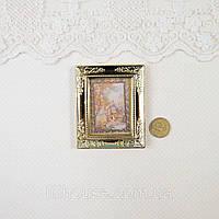 1:12 Миниатюра Картина ЛЮДИ на Фоне Дерева 6.2*5.2 см