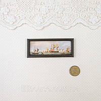 1:12 Миниатюра Картина Морской Пейзаж 7*2.8 см