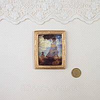 1:12 Миниатюра Картина РЕНУАР. Прогулка 6.5*5.2 см