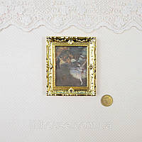 1:12 Миниатюра Картина БАЛЕРИНА 7.7*6.5 см