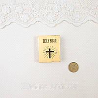 1:12 Миниатюра Библия 4*3 см ЗОЛОТО