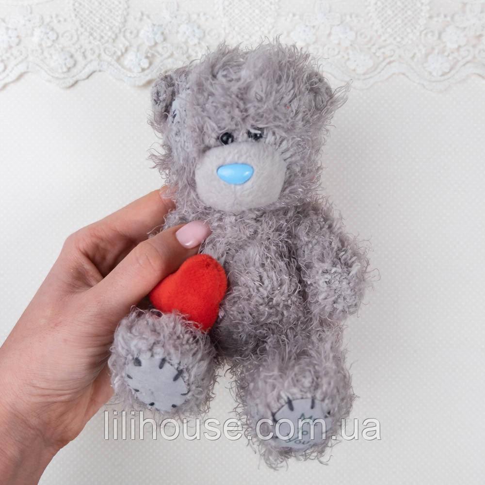 Мягкий Медведь Me To You 15 см СЕРЫЙ с Сердцем