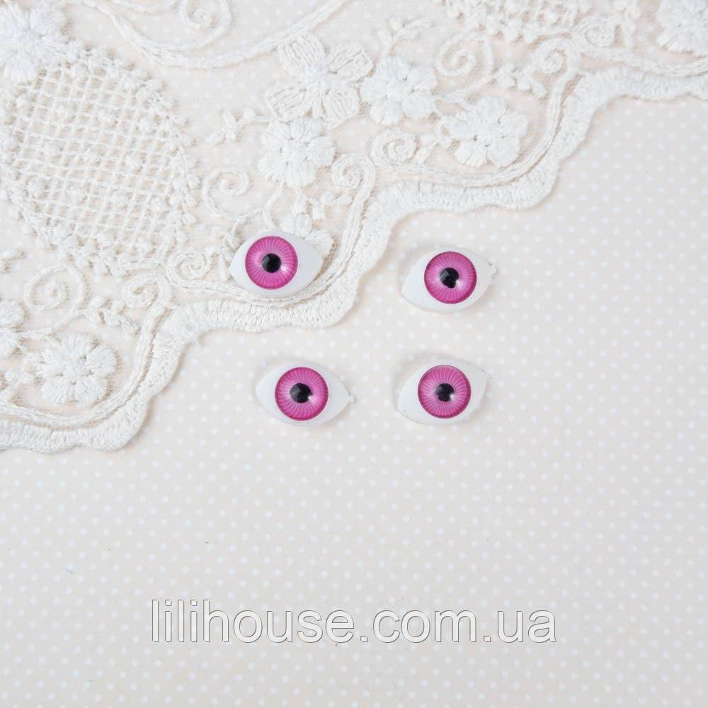 Очі для Ляльок Пластикові РИБКИ 11*16 мм РОЖЕВІ