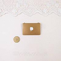 1:12 Миниатюра Apple Ноутбук 4.5*3 см ЗОЛОТО