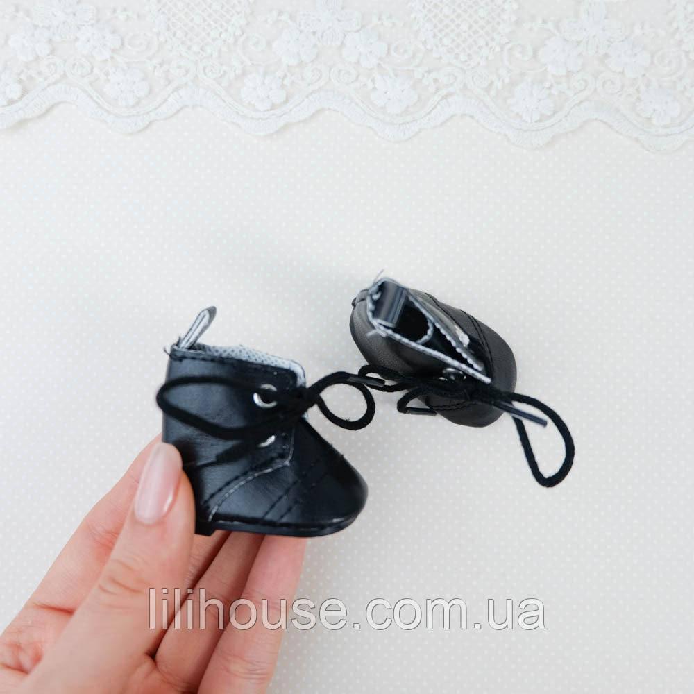 Обувь для кукол Сапожки Высокие 5*2.8 см ЧЕРНЫЕ