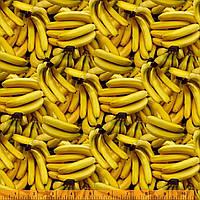 """Американский Хлопок Ткань для Пэчворка и Рукоделия """"Бананы"""" 23*55 см"""