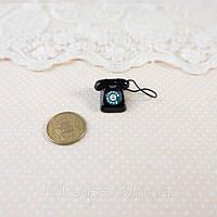 1:12 Мініатюра Телефон 1.6 см ЧОРНИЙ