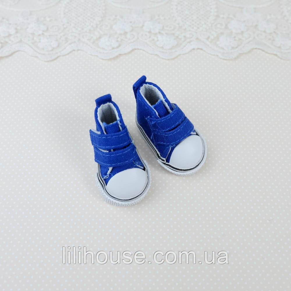 Взуття для ляльок Кеди на Липучці 5*2.5 см СИНІ