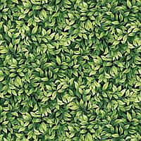 """Американский Хлопок Ткань для Пэчворка и Рукоделия """"Листья Зеленые"""" 23*55 см"""