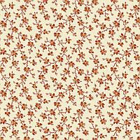 """Американский Хлопок Ткань для Пэчворка и Рукоделия """"Мелкие Красные Цветочки на Светлом"""" 23*55 см"""
