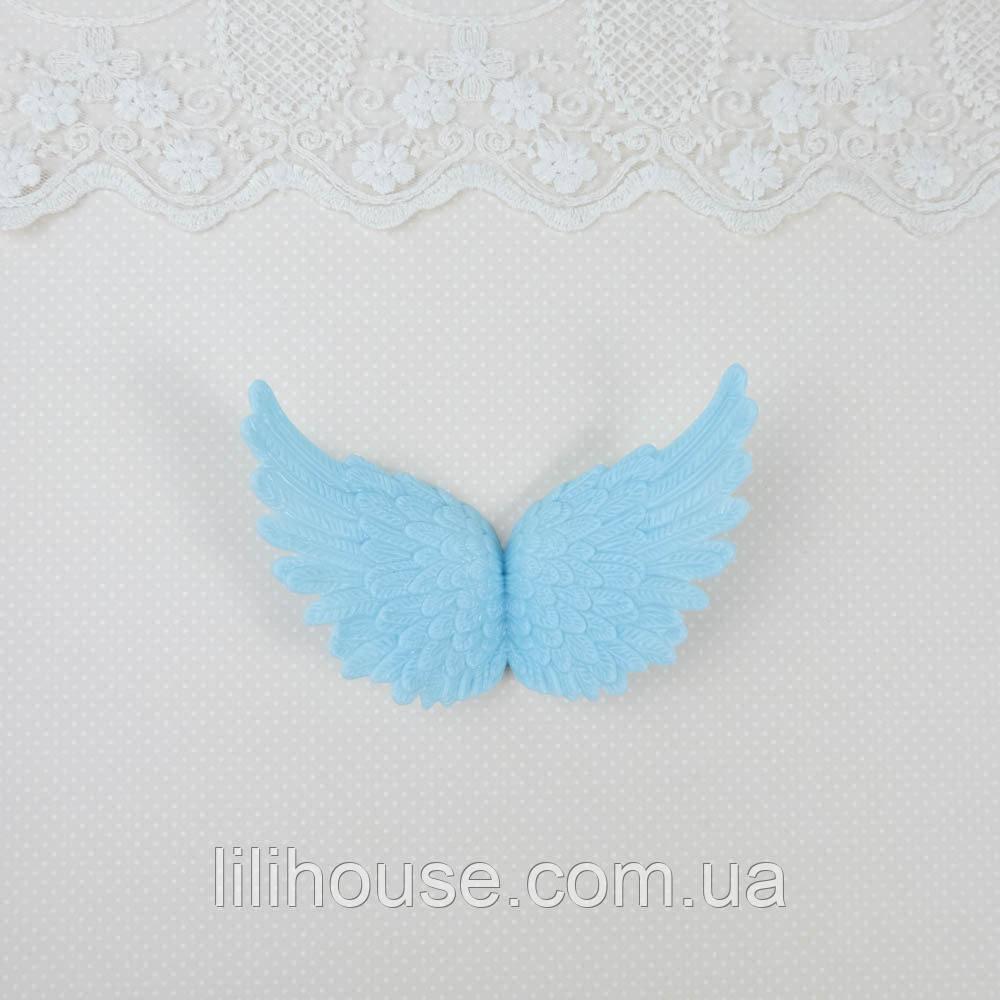 Крылья 10.5*6.5 см ГОЛУБЫЕ