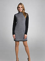 Классическое черно-белое вязаное женское платье