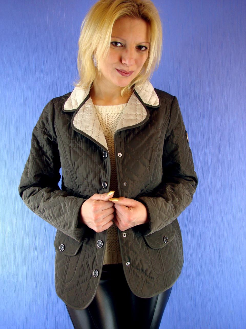 9230f055bc5 Женская куртка весенняя на меховой подкладке Olmar 01 p.46-58 Deify ...
