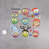 Термотрансферные Наклейки для Ткани CHRISTMAS OWLS