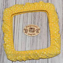 """Чохол для снапов (Q-snap) 20х20 см (8"""") Горох на жовтому"""