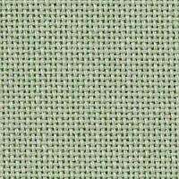 Ткань равномерного переплетения Lugana 25 3835/618 (зеленый мох) Moss Green  Zweigart (Германия) ширина 140 см