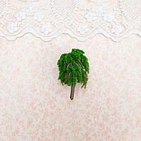 Искусственное Дерево для Диорамы и Миниатюры 5.5 см ТЕМНО-ЗЕЛЕНОЕ