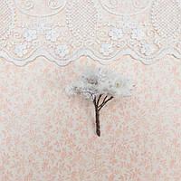 Искусственное Дерево для Диорамы и Миниатюры 6.5 см БЕЛОЕ витое