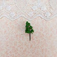 Искусственное Дерево для Диорамы и Миниатюры ЕЛЬ 4.2 см ТЕМНО-ЗЕЛЕНОЕ