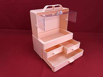 Органайзер для косметики настільний Бокс для зберігання макіяжу Cosmetic Storage Box LD GW 880 Рожевий