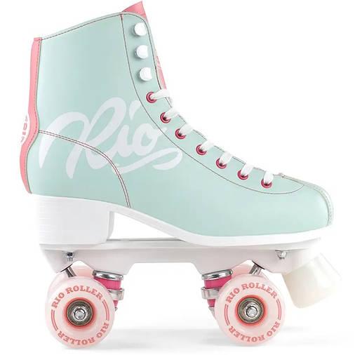 Взрослые роликовые коньки Rio Roller Script 40.5 Голубой с розовым, фото 2
