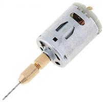 Мини электродрель №545-1 дрель 12v кулачковый патрон, цанга, гравёр, Dremel