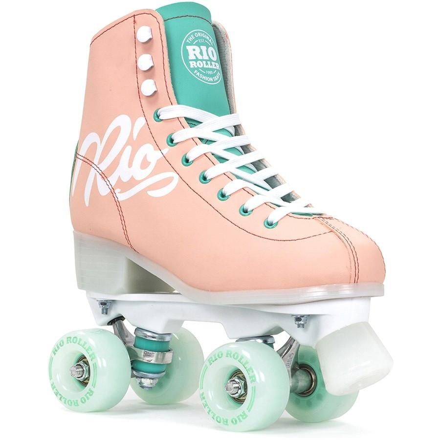 Взрослые роликовые коньки Rio Roller Script 35.5 Розово-зеленый