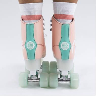 Дорослі роликові ковзани Rio Roller Script 35.5 Рожево-зелений, фото 2