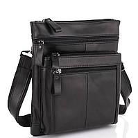 Черная мужская кожаная сумка через плечо Tiding Bag N2-8011A, фото 1