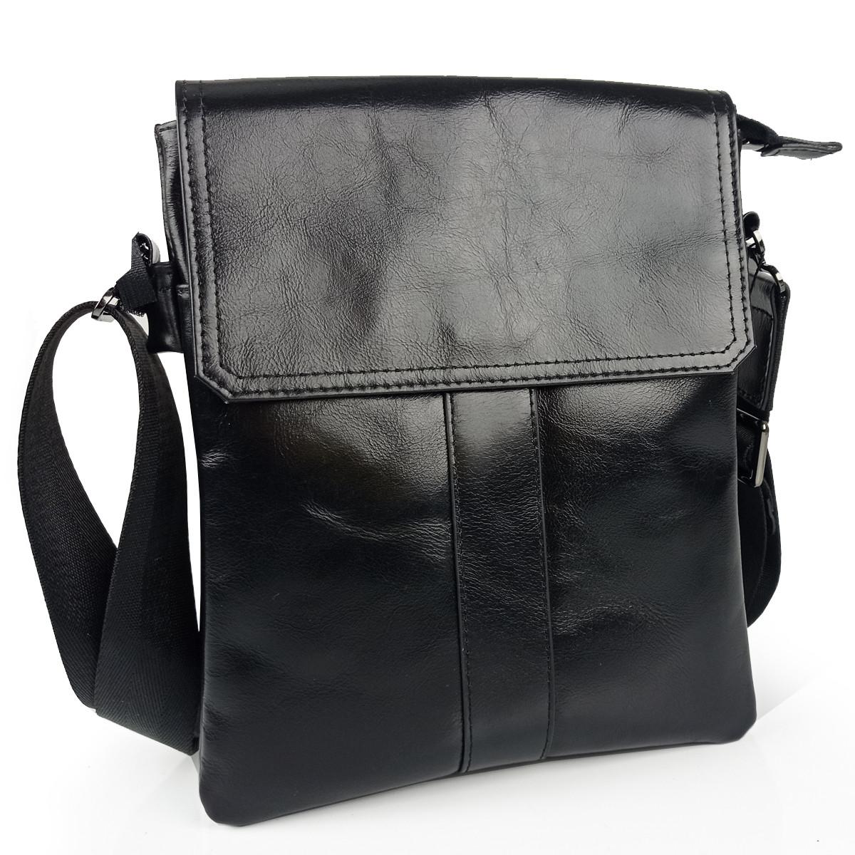 Месенджер через плече чорний Tiding Bag 8678A