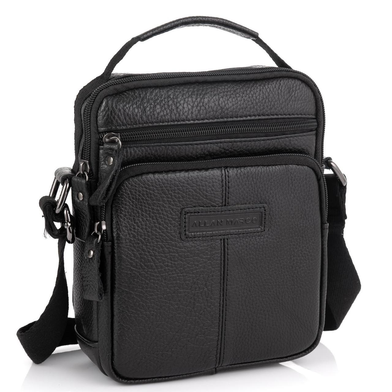 Кожаная мужская сумка через плечо Allan Marco RR-9053A