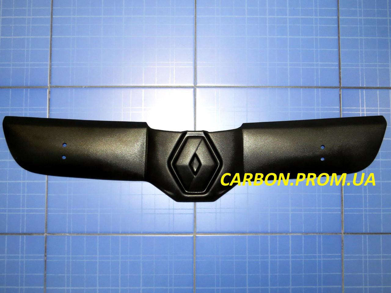 Зимняя заглушка решётки радиатора Рено Трафик верх 2001-2006 матовая Fly. Утеплитель решётки Renault Trafic